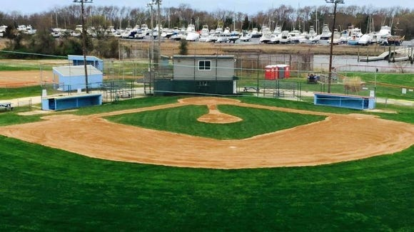 The Lewes Little League ball field and field house.
