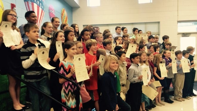Sixty-one fifth-graders at Pelham Road Elementary were recently inducted into the school's Beta Club.