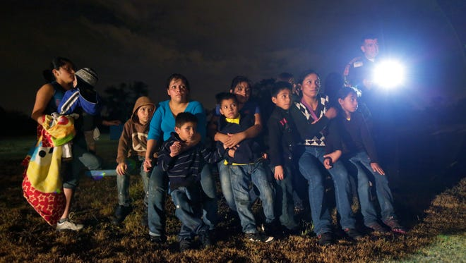 Central America immigrants apprehended crossing the border in 2013.