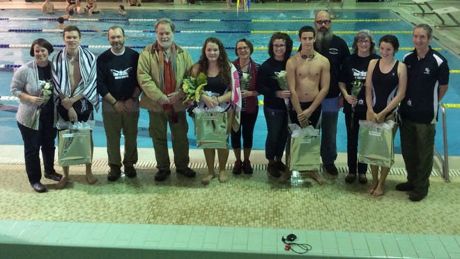 The North Buncombe swimming team's seniors competed in Thursday's Buncombe County meet in Skyland.