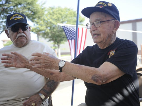 Gonzalez shares stories of his service.