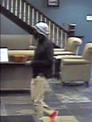 A man donning a fake beard and a fishing hat robbed a bank at 2:11 p.m. July 9 at Byline Bank, 13925 W. North Avenue. Kidane B. Dashew, 30, was found not competent to stand trail on Dec. 10 in Waukesha County Circuit Court.