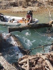 Chainsawing trees out of a flowing river is one of