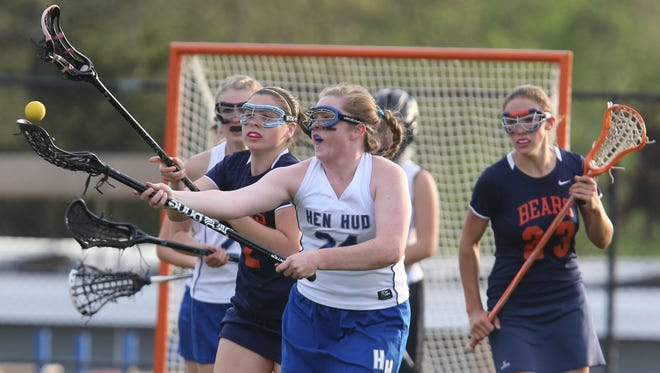 Hendrick Hudson defeats Briarcliff  11-10 during girls lacrosse game at Hendrick Hudson High School in Montrose May 11, 2016.
