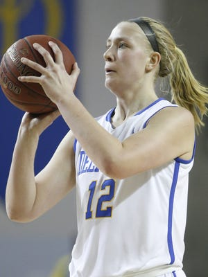 Hannah Jardine led the Blue Hens with 18 points on Tuesday night.