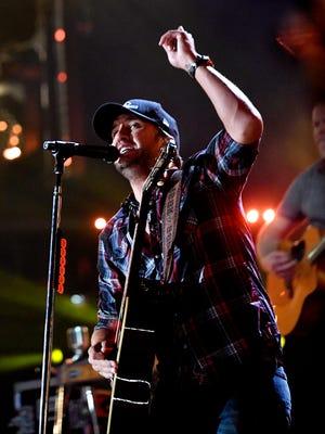 Luke Bryan performs during the CMA Music Festival on June 8, 2017, at Nissan Stadium in Nashville.
