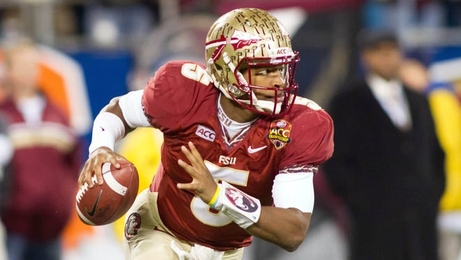 Redshirt freshman led Florida State to an ACC title and berth in the BCS National Championship Game, won the Heisman and became embroiled in arguably the biggest controversy of the 2013 college football season.