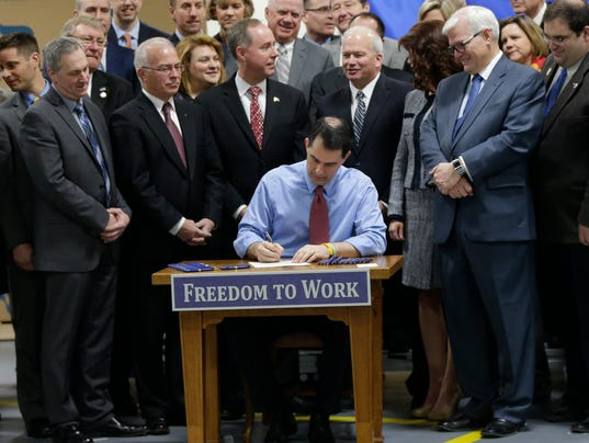 AP RIGHT TO WORK WISCONSIN A USA WI