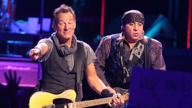 Steven Van Zandt, right, a longtime member of Bruce Springsteen's E Street Band, will be the speaker at Rutgers University's commencement in May.