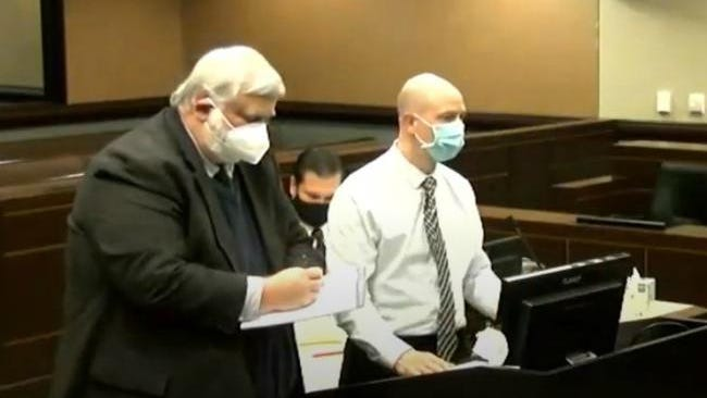 Timothy Koets at his plea hearing in an Ottawa County courtroom on Dec. 8, 2020.