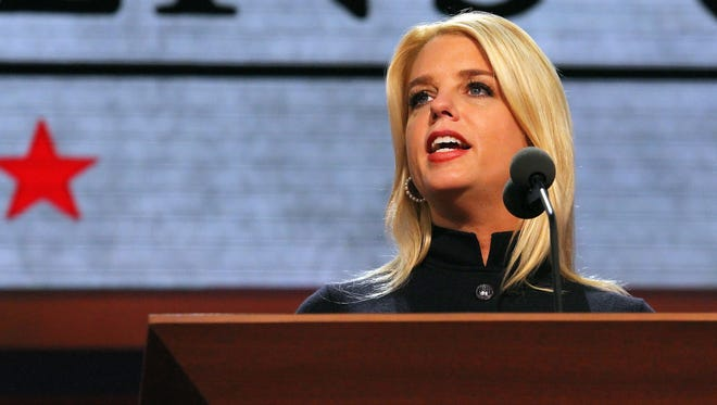 Florida Attorney General Pam Bondi speaks On Aug. 29, 2012, during the Republican National Convention.