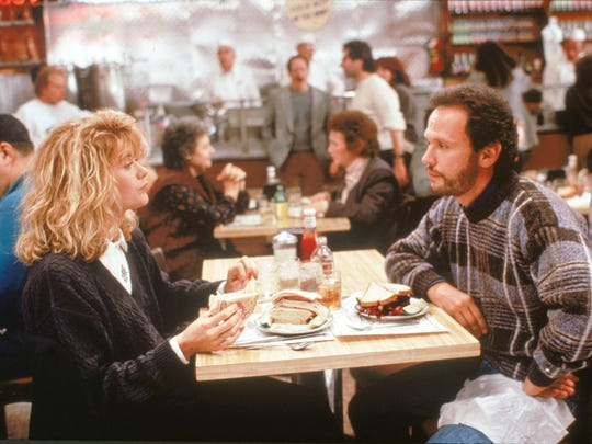 Meg Ryan and Billy Crystal in the classic deli scene from 1989's 'When Harry Met Sally.'