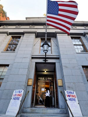 Early voting in Salem, Mass.