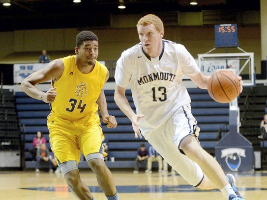 Andrew Nicholas during his playing days at Monmouth.