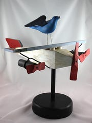"""Bird on Plane"" by Ed Zahn, part of the ""Inspired"""