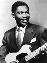 B.B. King in a 1955 photograph.