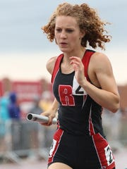 Rocori senior Amy Bertram ran a leg of the 1,600-meter relay Saturday at Hamline.