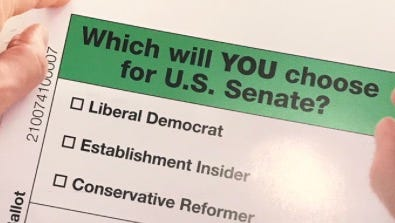 Photo of campaign material sent by a super PAC supporting Rep. Todd Rokita's bid for the GOP Senate nomination.