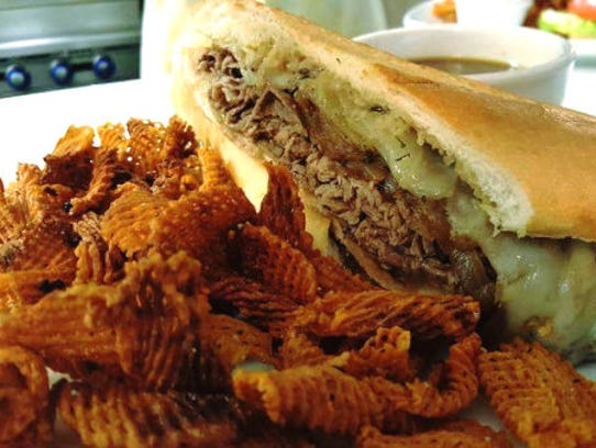 Riverwalk Cafe's roast beef garlic melt was piled high