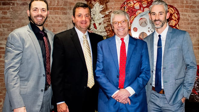Chase Crump, Steve Carney, Tommy Williams, Dany Martin at Williams Financial Advisors Holiday Party.