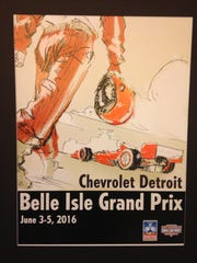 The winning Detroit Grand Prix poster design by D'mitri