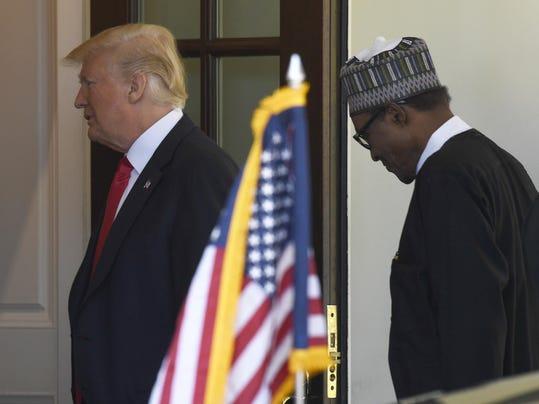 Donald Trump,Muhammadu Buhari