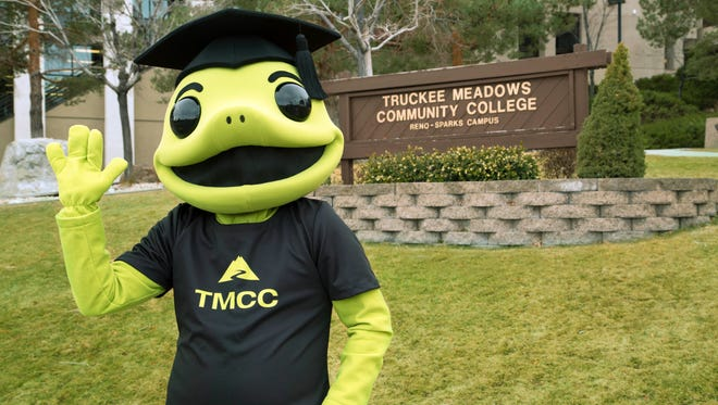 TMCC names its mascot. Meet Wizard the Lizard.