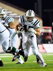 Ohio Bobcats running back A.J. Ouellette (45) carries
