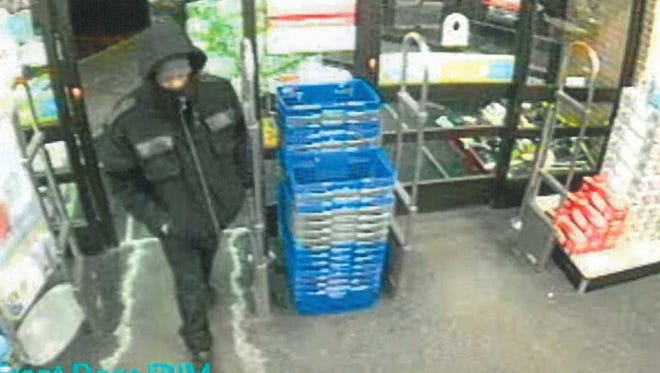 St. Cloud police released this security camera photo of the Walgreens robbery suspect.