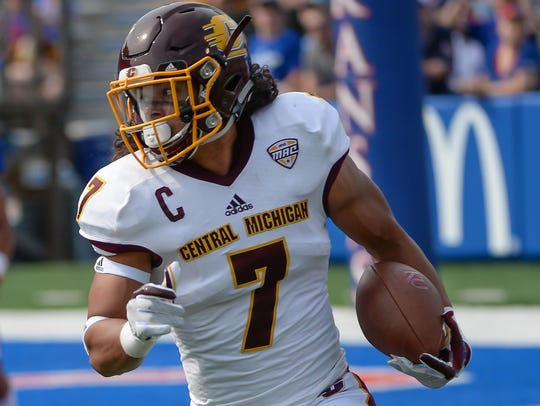 Central Michigan cornerback Amari Coleman (7).