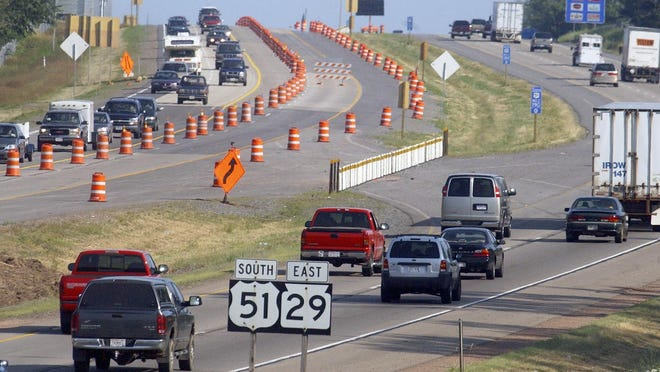 Construction on Interstate 39 is outlined in the 2015 state budget.