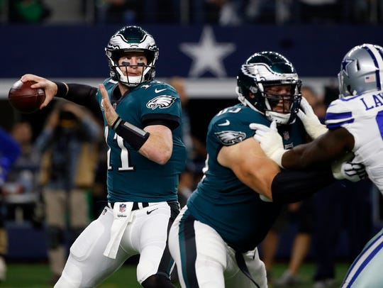 Carson Wentz will lead the Eagles against the Seahawks