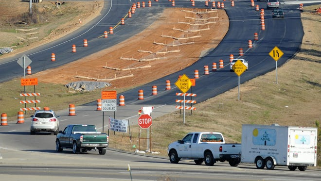 Road construction expected to slow traffic on Interstate 20.