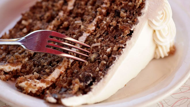 A slab of carrot cake is a tempting dessert at Chase's Diner in Chandler.