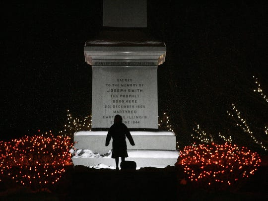 A Mormon child plays on the grounds of the Joseph Smith Birthplace Memorial on Dec. 23, 2005, in Sharon, as The Church of Jesus Christ of Latter-day Saints marks the bicentennial of Smith's birth. Joseph Smith founded the church in 1830.