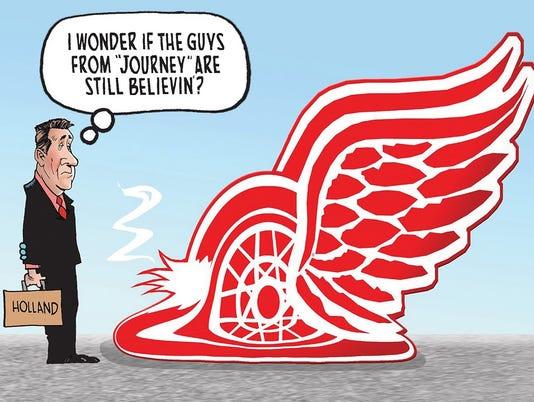 red wings cartoon winner