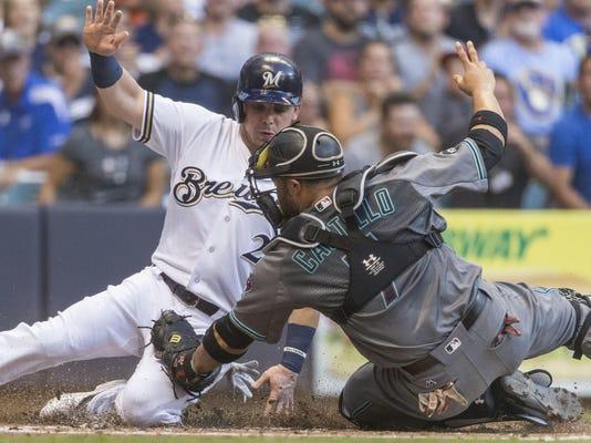 APTOPIX Diamondbacks Brewers Baseball