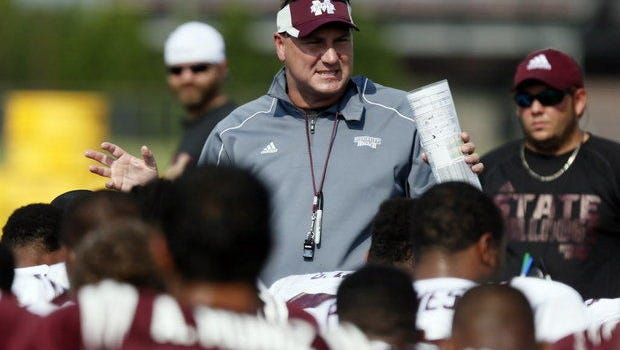 Mississippi State coach Dan Mullen was named a finalist for the Maxwell Coach of the Year Award on Tuesday.