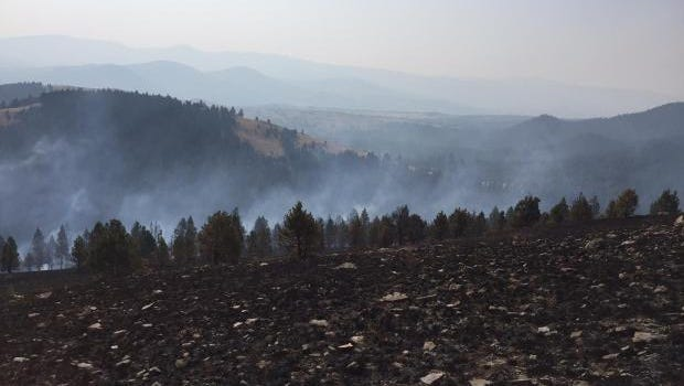 The Holmes Gulch Fire burning south of Helena did not gain any ground Friday night.