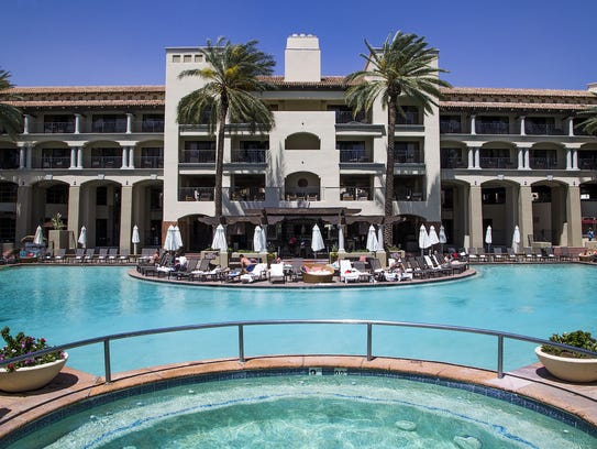 This is the main pool at the Fairmont Scottsdale Princess