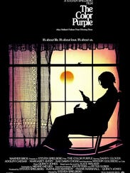 "The original release poster for ""The Color Purple."""