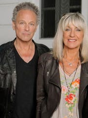 Lindsey Buckingham and Christine McVie perform at the