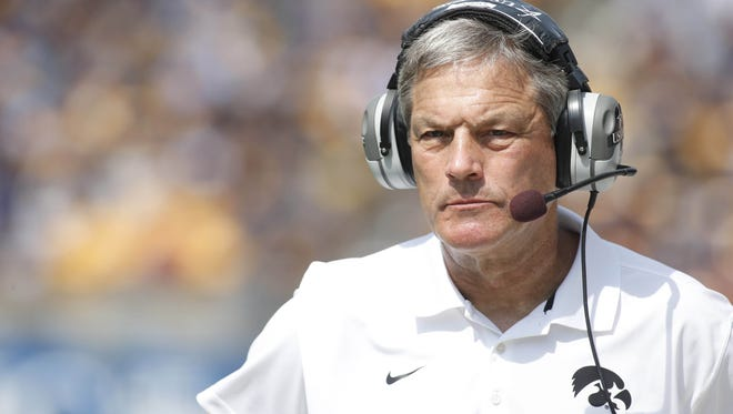 Iowa football coach Kirk Ferentz