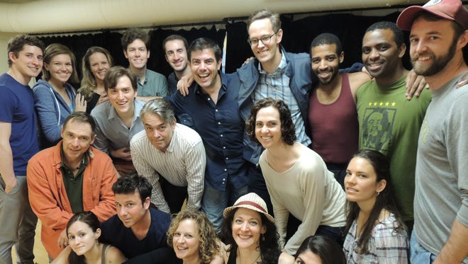 """Davis McCallum with the cast of the Hudson Valley Shakespeare Festival's """"Othello."""""""