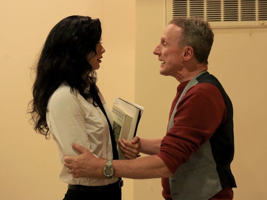 "David Mamet's ""Oleanna"" pits Carol, played by Christa Gross, against her professor, John, played by Richard Hill, in the Kayenta Arts Foundation's production."