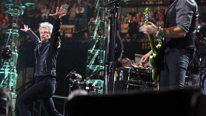 Bon Jovi performs at Bridgestone Arena Saturday February 18, 2017.