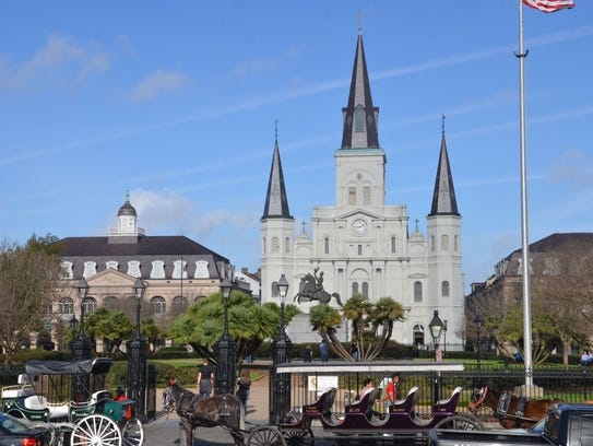 St. Louis Cathedral in Jackson Square is one of New