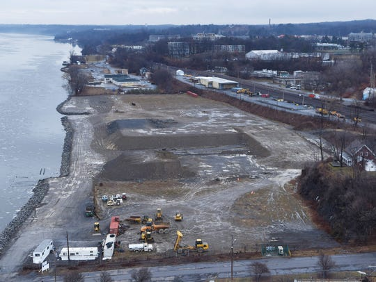 A view of the former Dutton Lumber Company site, just