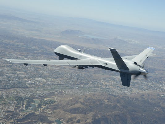 MQ-9 Reaper flies over Southern California