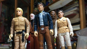 As the 40th anniversary of Star Wars approaches, and a new movie is set for release, we take a look Monday, December 4, 2017, at some of Red Bank-based toy collector Rob Bruce's items from 'a galaxy far, far away.'